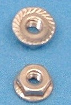 Stainless Steel #10 Serrated Nut - Stainless-Steel-Nuts-BoltsNo10