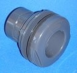 8170-015 1.5 Sch 80 (GRAY) bulkhead (aka tank adapter) ftg - Bulkhead-Fittings-Sch80