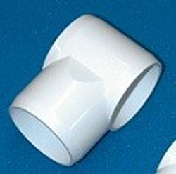 "61-005P 1/2"" slip slide Tees Tight Fit, aka sling tees COO:USA - PVC-Fittings-Tees-Slip-Slide"