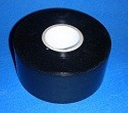 "10mil x 2"" x 100feet SOLID BLACK tape, all black. - PVC-Pipe-Wrapping-Tape"