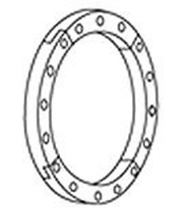854P-020-1S Split Ring for 2 inch flange. - PVC-Flanges-Parts