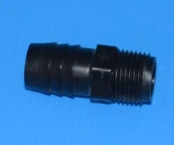 TA10610 3/8 mpt x 5/8 barb adapter - Barb-Adapters-Threaded