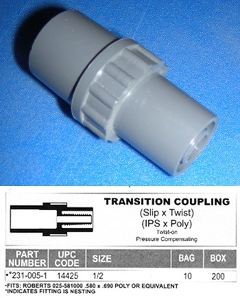 TransitionCoupleTwist 99-2310051 - Barb-Fittings-other