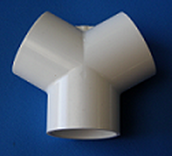 413-5040 2 inch by 1.5 inch True Wye, 120° Wye - PVC-Fittings-Wyes-TrueWye