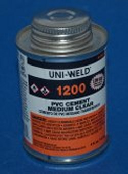 Uniweld CLEAR Medium BODIED 1/4 Pint PVC Cement/Glue - PVC-Glue-Uniweld