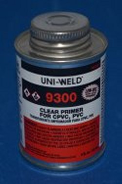 Uniweld CLEAR PRIMER 1/2 Pint COO:USA - PVC-Glue