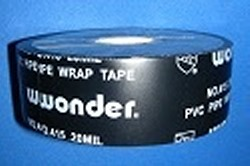 "10mil x 2"" x 100' Wonder Tape BLACK - PVC-"