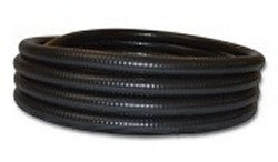 "100ft 2.5"" black FlexPVC® brand flexible PVC pipe. COO:USA - 7 Flex PVC Pipe 2-1/2 inch"