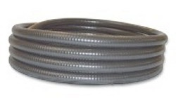 50ft x 2.5 inch gray FlexPVC<sup>®</sup> brand flexible PVC pipe. COO:USA - 7 Flex PVC Pipe 2-1/2 inch
