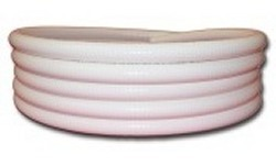 "50' x 2.5"" WHITE FlexPVC® brand flexible PVC pipe. COO:USA - 7 Flex PVC Pipe 2-1/2 inch"