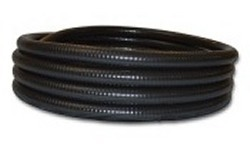 "25ft 1.5"" black FlexPVC® brand flexible PVC pipe. COO:USA - 5 Flex PVC Pipe 1-1/2 inch"