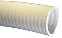 "2.5"" white, custom length FlexPVC® brand flexible PVC pipe - Flex PVC By The Foot White"