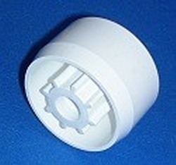 Castercap Caster Cap for 1.25 pipe 7/16 caster - PVC-Fittings-Caster-Inserts