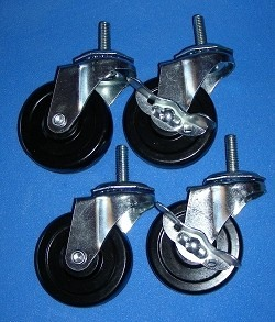 Casters1 Set of 4, 3/8 shaft, 3in wheel casters - Casters