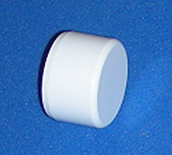 "UV Rated Furniture Grade FLAT 1"" cap sch 40 - PVC-Fittings-Caps-Flat"
