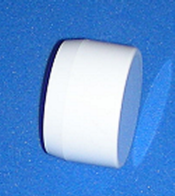 "UV Rated Furniture Grade FLAT 1.25"" cap sch 40 - PVC-Fittings-Caps-Flat"