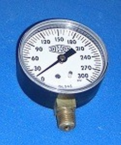 Gauge 0-300psi 2.5inch face 1/4MPT - Gauges