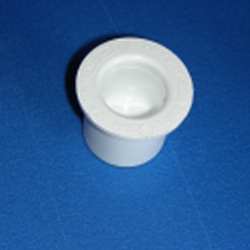 449-005CS 1/2 inch plug, external cavity, counter sunk. COO:USA - PVC-Fittings-Plugs-Standard