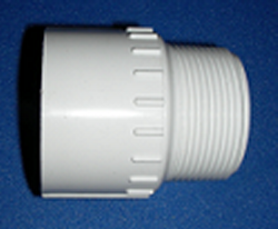 436-012 1.25 inch male adapter. COO:USA - PVC-Fittings-MaleAdapters