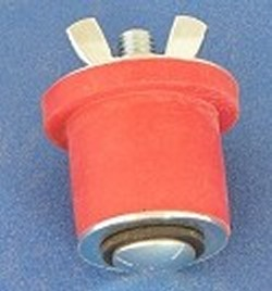 "Test Plug for 1.5"" Sch 40 pipe with wing nut - PVC-Fittings-Plugs-InsidePipe"