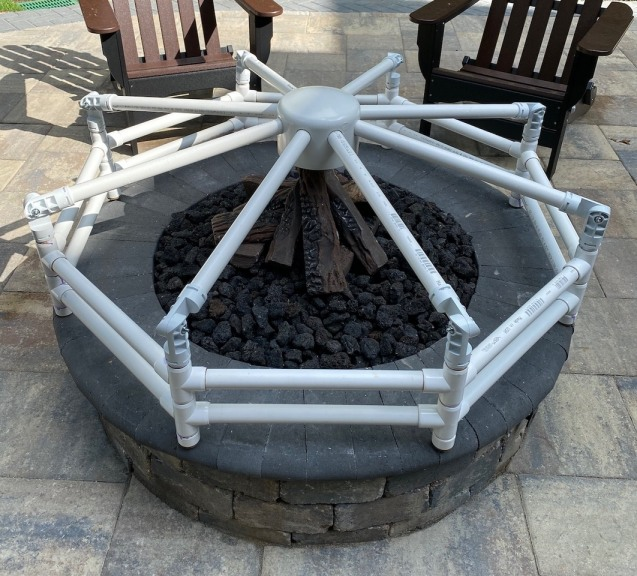 PVC Pipe & Fittings Firepit Cover Frame